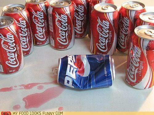 cans coke cola gang liquid pepsi pink violence
