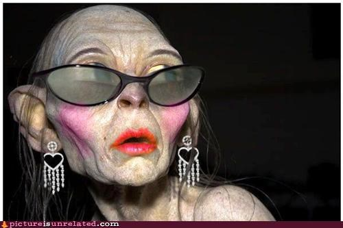 eww,glasses,golem,makeup,wtf