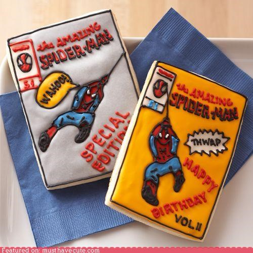 comic books cookies epicute icing Spider-Man - 5057261056