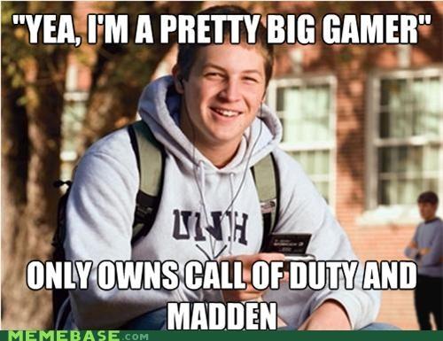 call of duty gamer huge madden RPG uber frosh video games