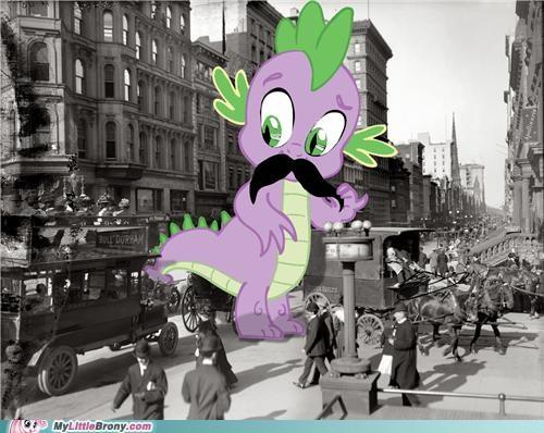 godzilla mustache sir spike - 5059113216