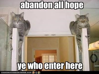 abandon all caption captioned cat Cats caveat emptor dante enter here hope quote the inferno who ye - 5059436288