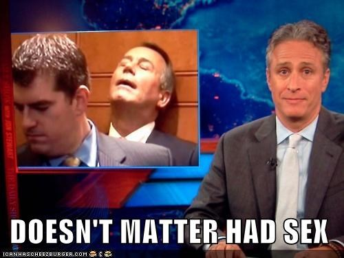 doesnt matter,had sex,john boehner,jon stewart,Lonely Island,political pictures,politics,Pundit Kitchen,Songs