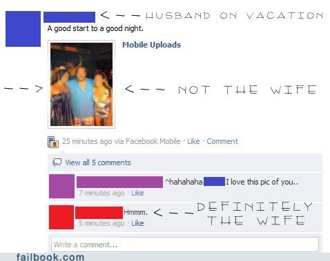 wife husband cheating vacation