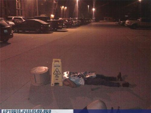 caution,passed out,safety first,street