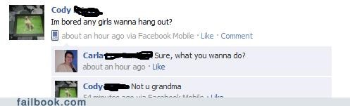 hanging out,grandma,hang out
