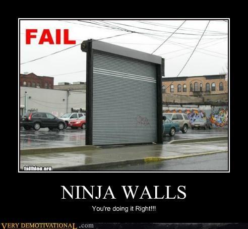 doing it right hilarious ninja walls wtf - 5062269440