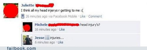 head injuries,lets-try-this-again,spelling