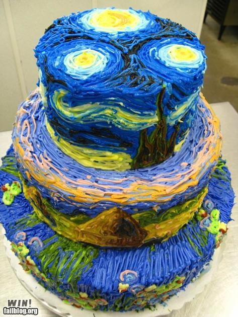 baking,cake,confection,food,Hall of Fame,starry night