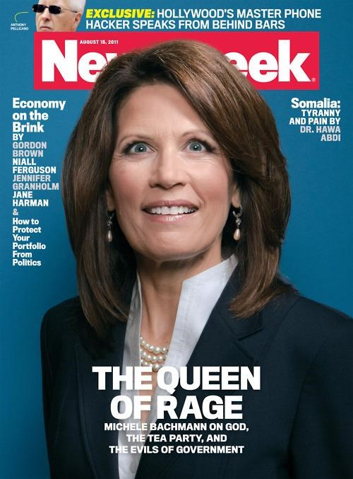 Lights Out,magazine cover,Michele Bachmann,Newsweek,Queen of Rage