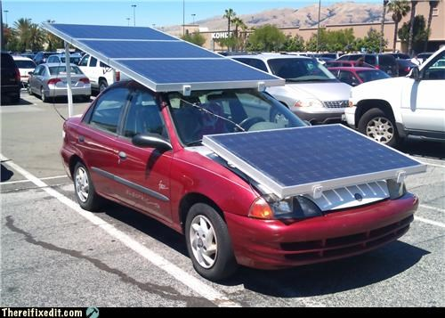 cars green energy solar panel