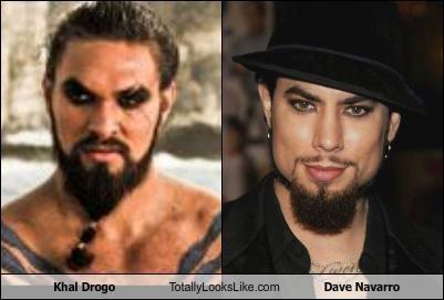 actors beards Dave Navarro Game of Thrones guys wearing eyeliner guys wearing makeup Jason Momoa musicians mustaches - 5062745344
