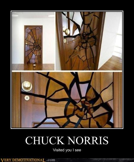 broken chuck norris door hilarious - 5062827520