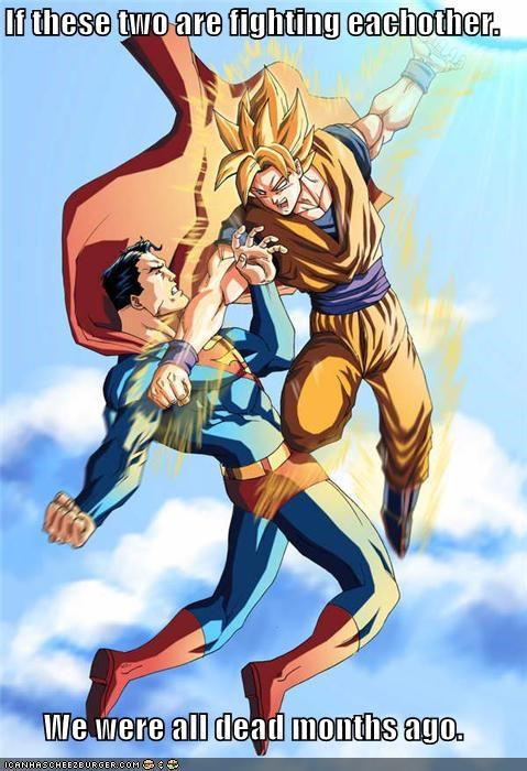 destroyed fight goku Super-Lols superman - 5063231232