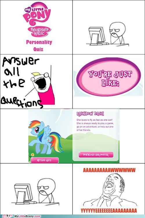 comics personality quiz rage comic rainbow dash - 5063322112