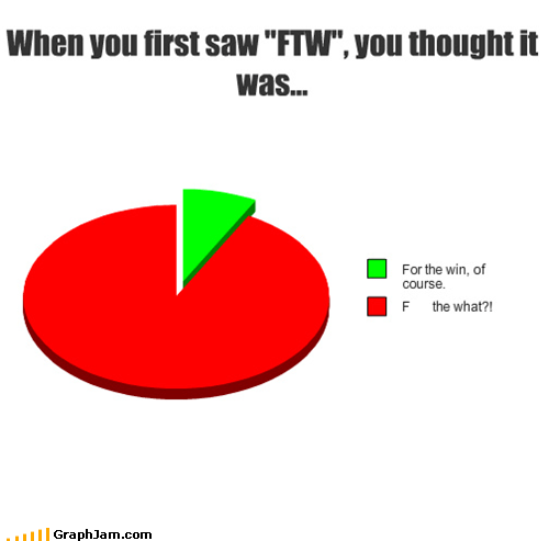 1337 FTW Pie Chart text speak - 5063464960