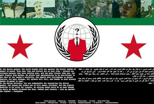 anonymous,hacking,ministry of defense,protests,syria,Tech