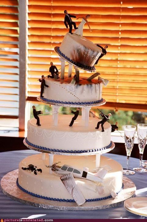 action cake fire wedding wtf - 5063955456