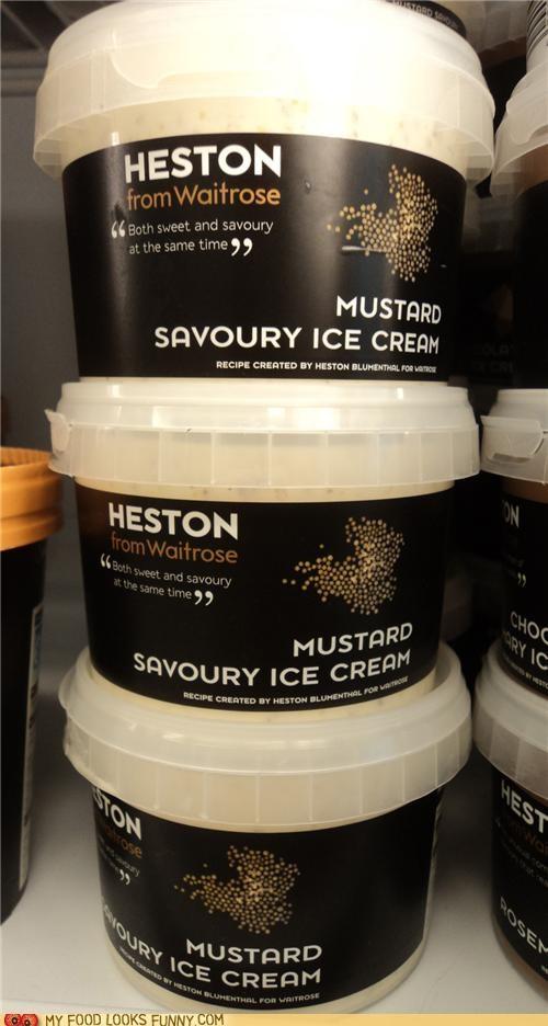 flavor,ice cream,mustard,odd,savory,weird