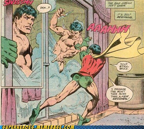 batman inquisition robin shower spanish Straight off the Page tasteful newds - 5064103424