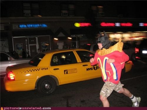 batman,costume,fries,McDonald's,wtf