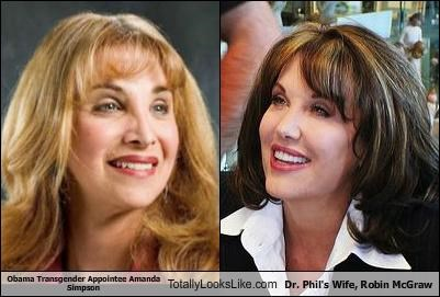Obama Transgender Appointee Amanda Simpson Totally Looks Like Dr. Phil's Wife, Robin McGraw