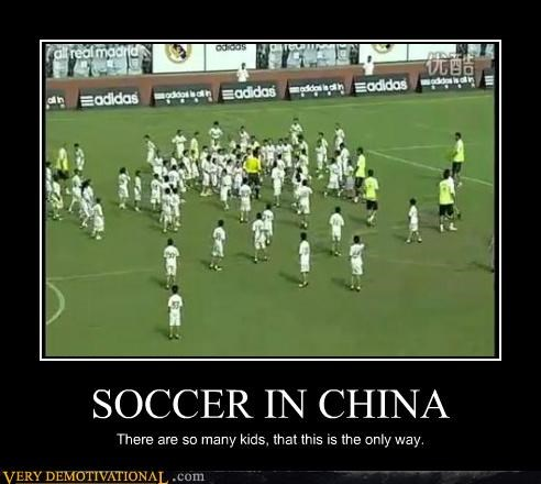 China hilarious kids lots soccer