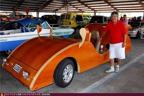 car wood,ride,sweet,wtf