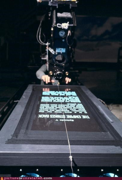 camera,light box,movie magic,star wars,wtf