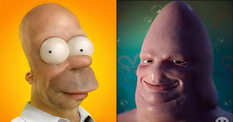 Funny untoons, cartoon characters made realistic.