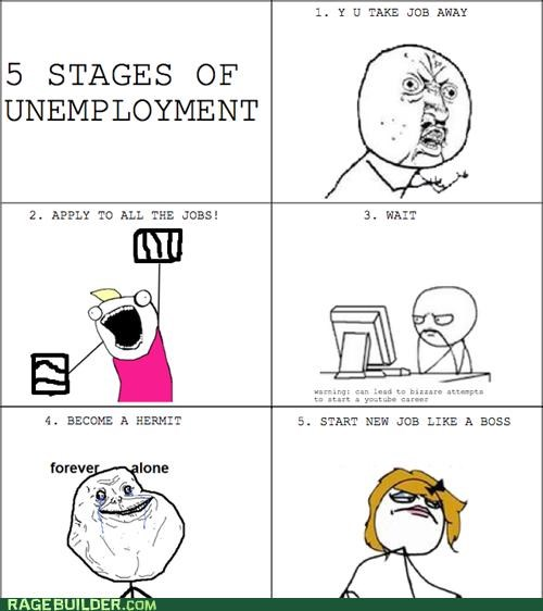 all the guy forever alone job search Rage Comics soon computer unemployment Y U No Guy - 5064813568