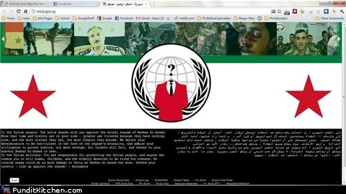 anonymous hacking political pictures syria