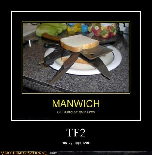hilarious knives sandwich TF2