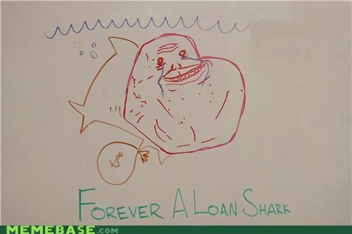 drawing,forever alone,IRL,loan,punz,shark