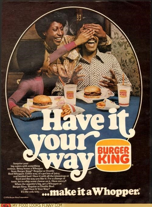 Ad burger king dinner family surprise your way
