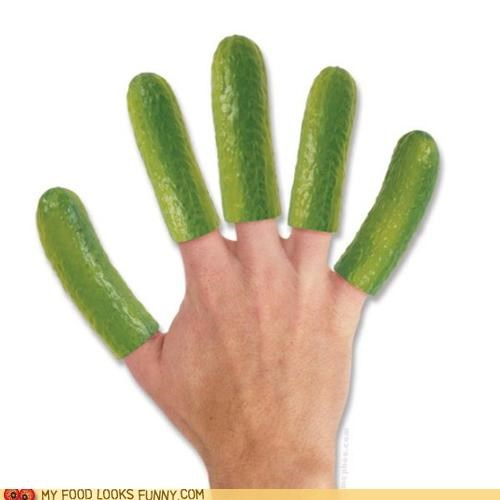 fingers,green,pickles,plastic