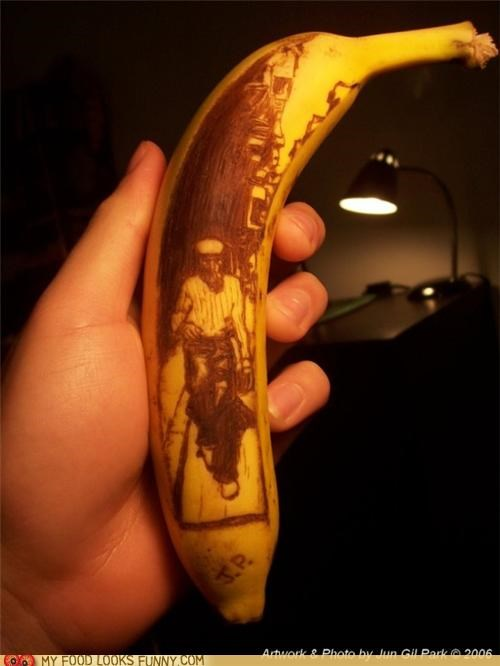 art,banana,draw,scratch,skin