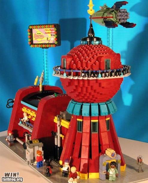 futurama lego nerdgasm planet express - 5065260544