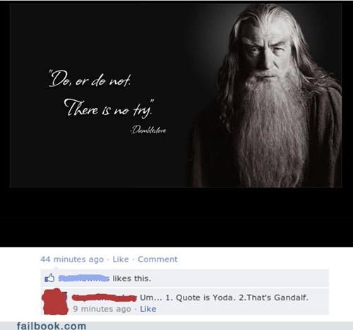 dumbledore facepalm Featured Fail gandalf troll quotes yoda - 5065302784