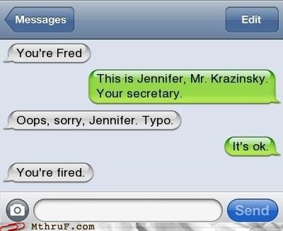 fired,fred,texting