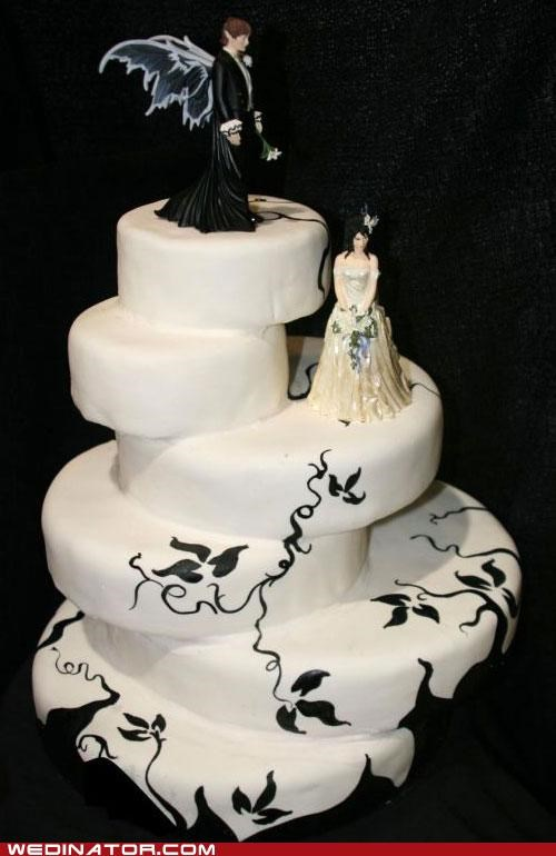 cake,cake toppers,funny wedding photos,gothic,wedding cakes