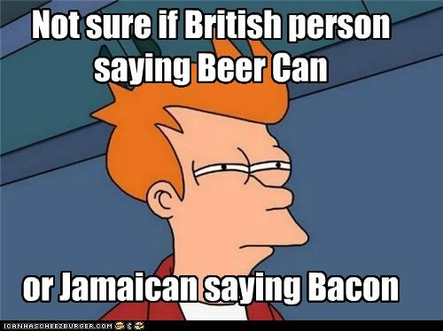 bacon beer British england fry sounds