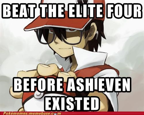 ash,elite four,gameplay,hipster,red