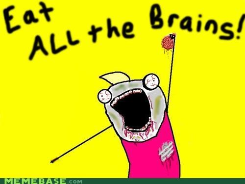 all the things,brains,eat,food,zombie