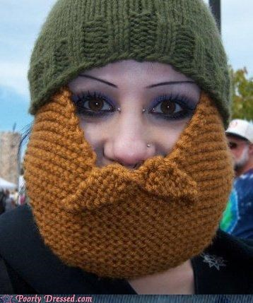 beanie beard knit Knitted