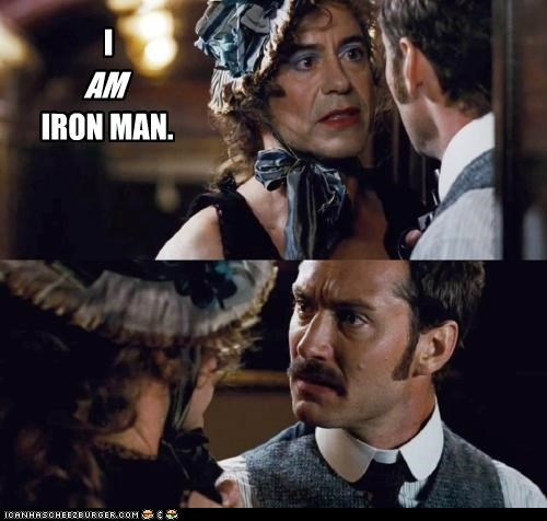 actors cross dressing iron man jude law movies robert downey jr roflrazzi sherlock holmes