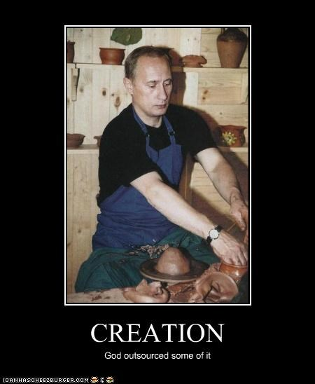 creation,god,outsource,political pictures,politicians,pottery,Pundit Kitchen,religion,russia,Vladimir Putin,vladurday