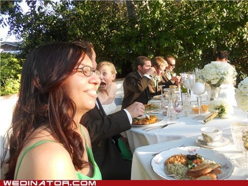 bride,bridesmaid,funny wedding photos,photobomb