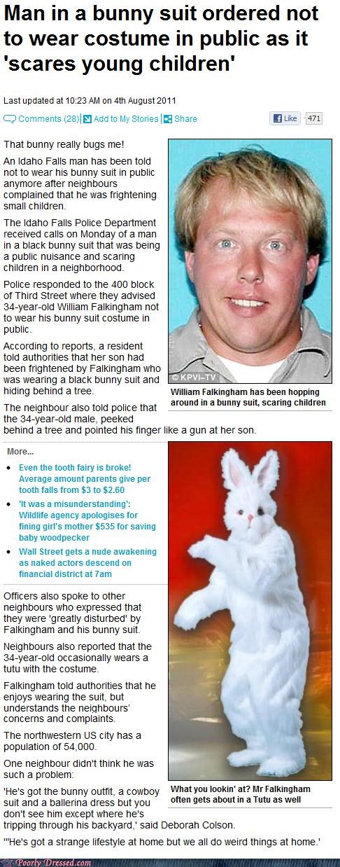 bunny suit,news,poor fashion coverage