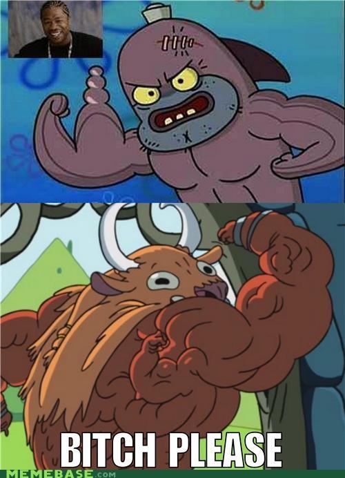adventure time muscles please Reframe SpongeBob SquarePants yo dawg - 5066100736